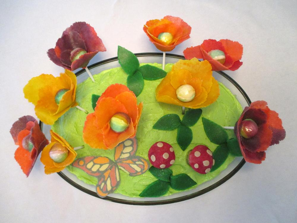 fe-blomsterkage til en fe-fødselsdagsfest